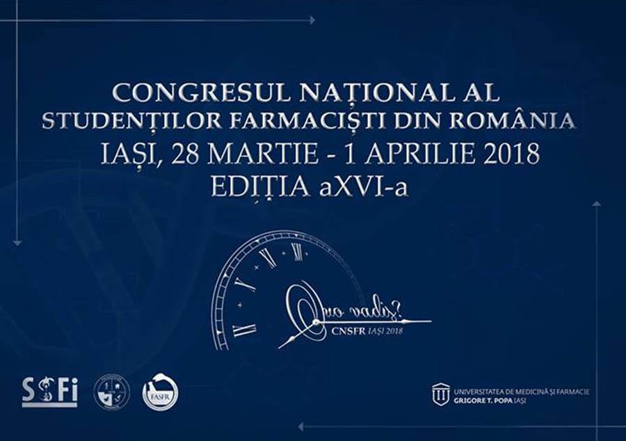 Cea de-a XVI-a Ediție a Congresului Național al Studenților Farmaciști din România va avea loc la Iași