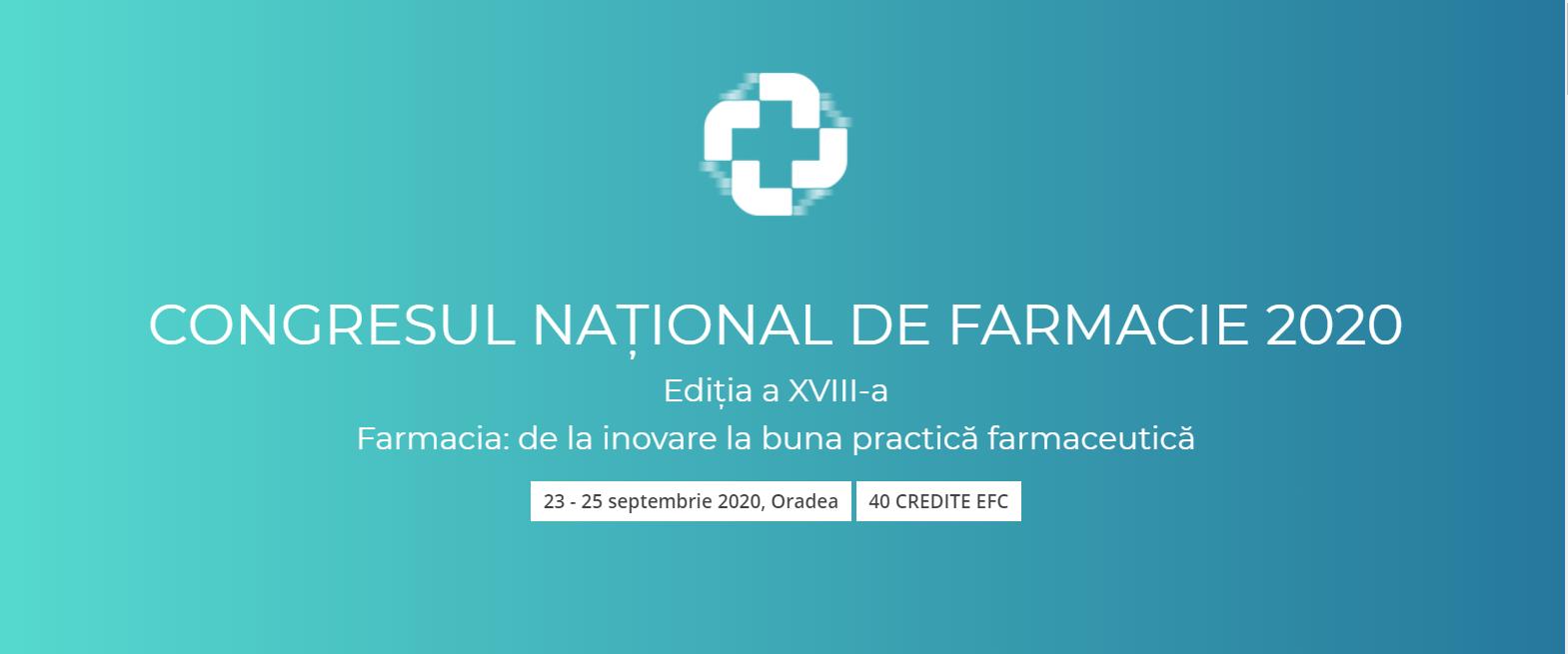 Prof.univ.dr.farm. Laura Grațiela Vicaș, despre Congresul Naţional de Farmacie din România 2020
