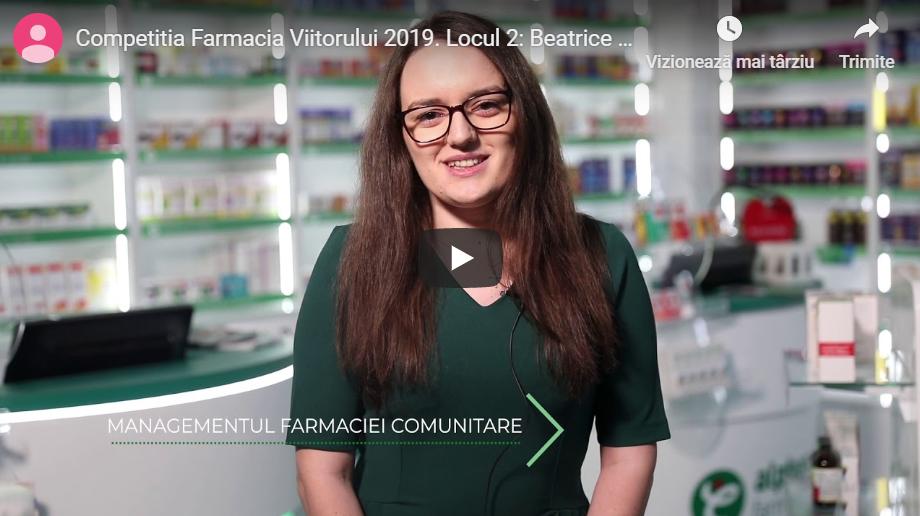 """Beatrice Elena Lascu, ocupanta locului doi al Competitiei Farmacia Viitorului: """"Cred că ar trebui să meargă mai departe acest proiect pentru a profita și alți colegi de el"""""""