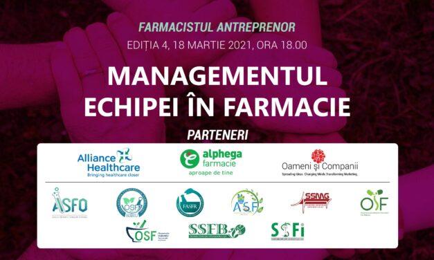 FARMACIA VIITORULUI: PROGRAM DE TRAINING ȘI MENTORAT PENTRU STUDENȚII FARMACIȘTI