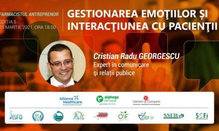 FARMACIA VIITORULUI: Învață cum îți gestionezi emoțiile și cum să interacționezi cu pacienții, la cea de-a cincea întâlnire din program