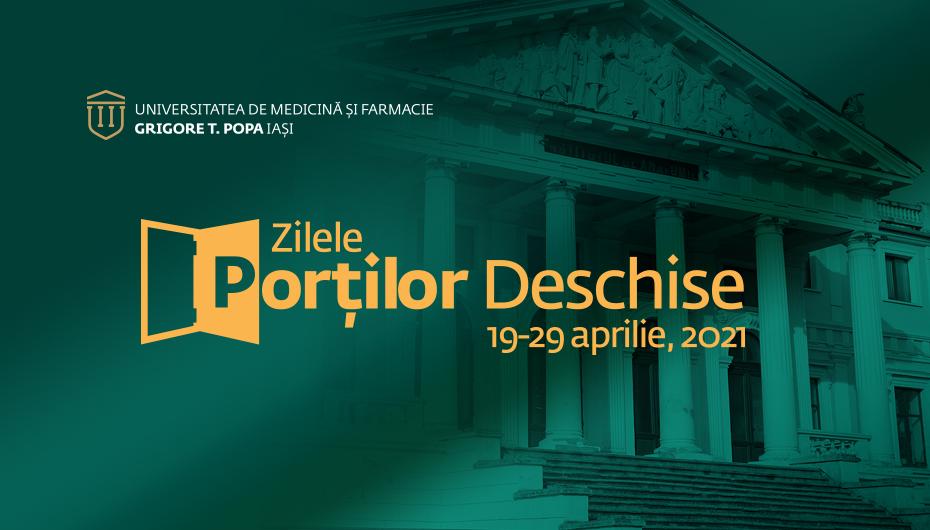 19 – 29 aprilie 2021,Zilele Porților Deschise la UMF Iași