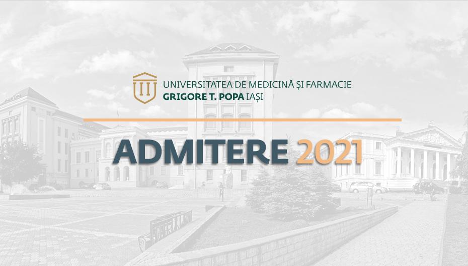 Concurs de admitere UMF Iași: ponderea subiectelor la prima vedere