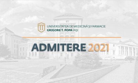 Admitere de toamnă la UMF Iași pentru specializarea Cosmetică medicală și tehnologia produsului farmaceutic